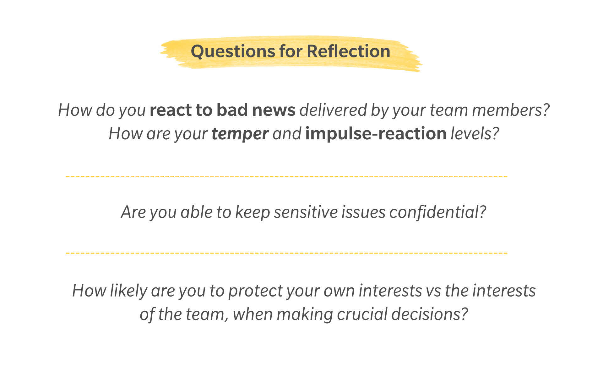 Trust Reflection