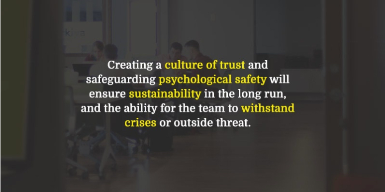 Keeping trust high starts with giving people priority